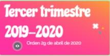 Infografía Tercer Trimestre. Curso 2019-2020